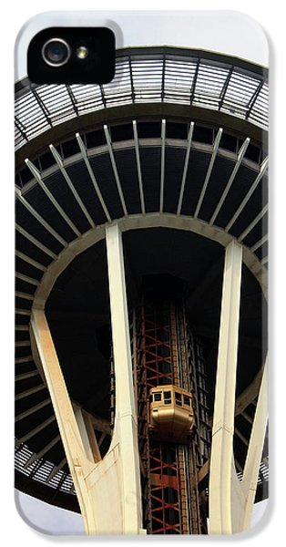 Space Needle- By Linda Woods IPhone 5 Case by Linda Woods