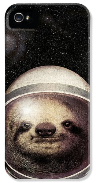 Space Sloth IPhone 5 Case by Eric Fan