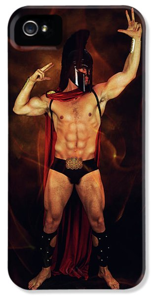 Sparta Mike  IPhone 5 Case by Mark Ashkenazi