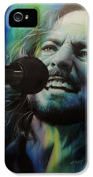 Pearl Jam iPhone 5 Case - Spectrum Of Vedder by Christian Chapman Art