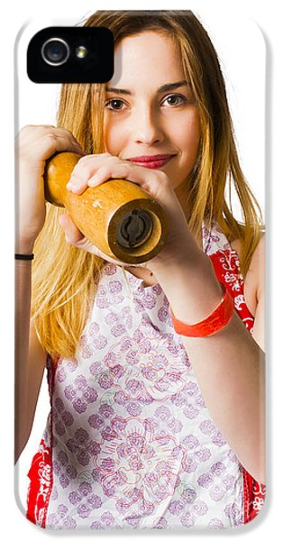 Spices Girl With Salt And Pepper Shaker IPhone 5 Case