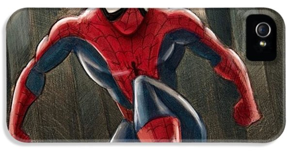 Amazing iPhone 5 Case - Spider-man by Tony Santiago