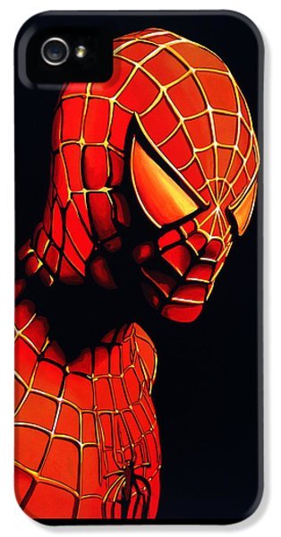 Spider iPhone 5 Case - Spiderman by Paul Meijering