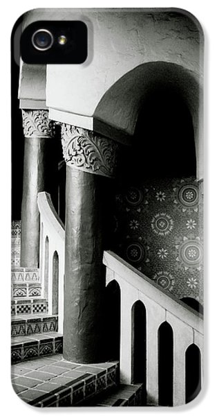 Spiral Stairs- Black And White Photo By Linda Woods IPhone 5 Case by Linda Woods