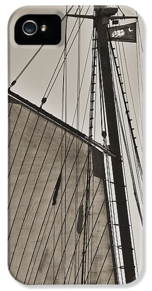Spirit Of South Carolina Schooner Sailboat Sail IPhone 5 Case by Dustin K Ryan