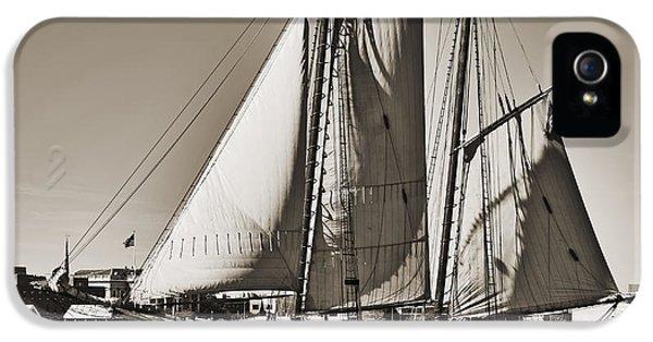 Spirit Of South Carolina Schooner Sailboat Sepia Toned IPhone 5 Case by Dustin K Ryan