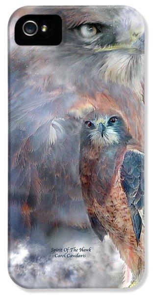 Spirit Of The Hawk IPhone 5 Case by Carol Cavalaris