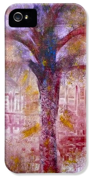 IPhone 5 Case featuring the painting Spirit Tree by Claire Bull
