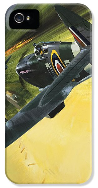 Spitfire And Doodle Bug IPhone 5 Case by Wilf Hardy