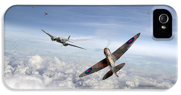 IPhone 5 Case featuring the photograph Spitfire Attacking Heinkel Bomber by Gary Eason