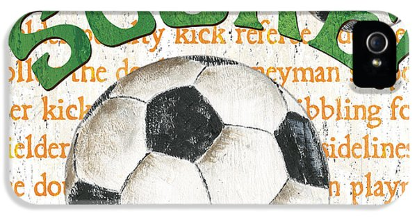 Sports Fan Soccer IPhone 5 Case by Debbie DeWitt