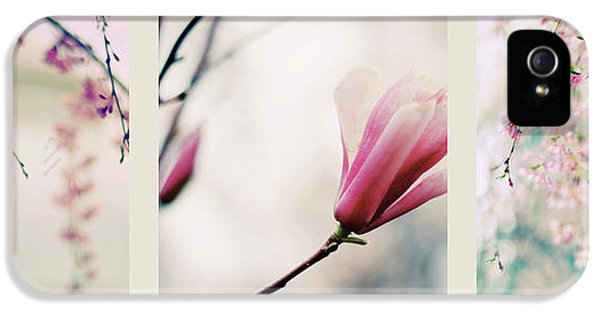 IPhone 5 Case featuring the photograph Spring Blossom Triptych by Jessica Jenney