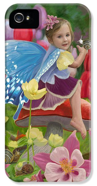 Spring Fairy IPhone 5 Case by Lucie Bilodeau