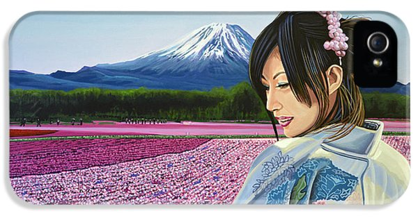 Mount Rushmore iPhone 5 Case - Spring In Japan by Paul Meijering