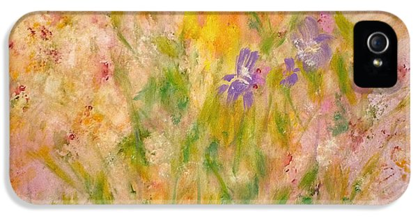 IPhone 5 Case featuring the painting Spring Meadow by Claire Bull