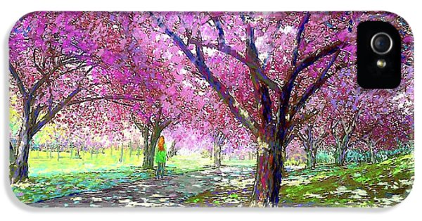 Boston iPhone 5 Case - Spring Rhapsody, Happiness And Cherry Blossom Trees by Jane Small