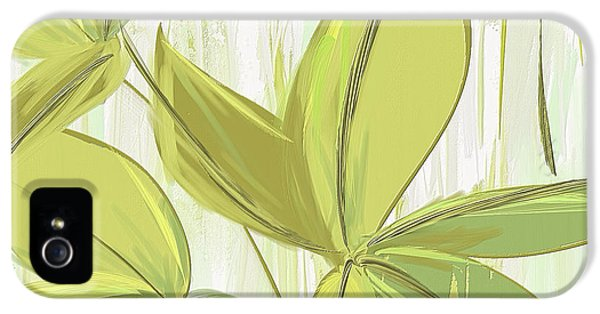 Spring Shades - Muted Green Art IPhone 5 Case