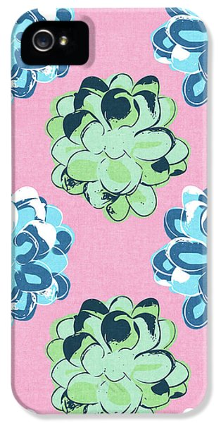 Spring Succulents- Art By Linda Woods IPhone 5 / 5s Case by Linda Woods