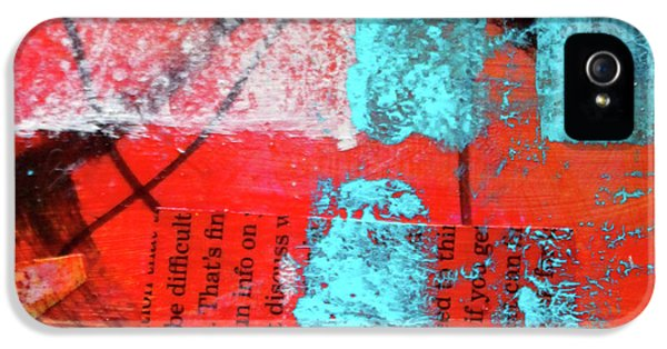 IPhone 5 Case featuring the mixed media Square Collage No. 10 by Nancy Merkle