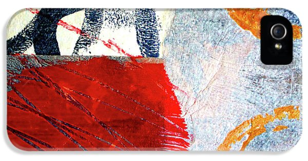 IPhone 5 Case featuring the painting Square Collage No. 3 by Nancy Merkle