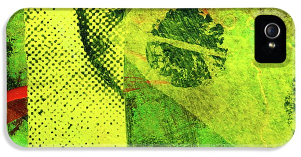 IPhone 5 Case featuring the mixed media Square Collage No. 8 by Nancy Merkle