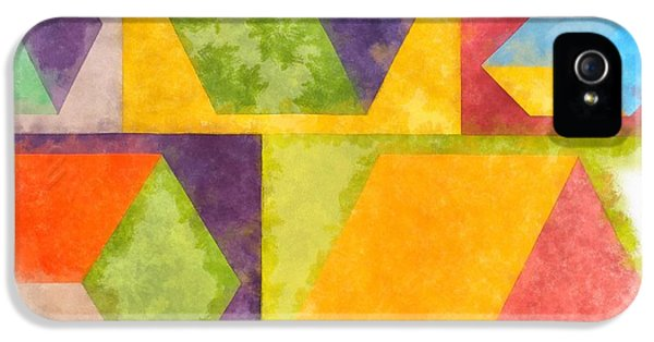 iPhone 5 Case - Square Cubes Abstract by Edward Fielding