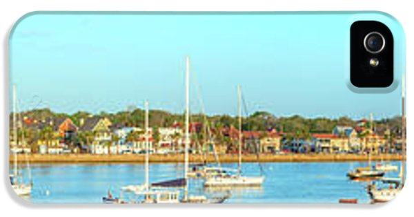 IPhone 5 Case featuring the photograph St Augustine Panorama by Sebastian Musial