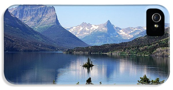 St Mary Lake - Glacier National Park Mt IPhone 5 Case by Christine Till