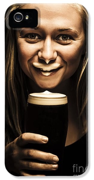 St Patricks Day Woman Imitating An Irish Man IPhone 5 Case by Jorgo Photography - Wall Art Gallery