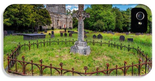 St Tegai Cross IPhone 5 Case by Adrian Evans
