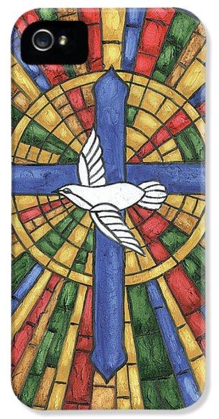 Cross iPhone 5 Case - Stained Glass Cross by Debbie DeWitt
