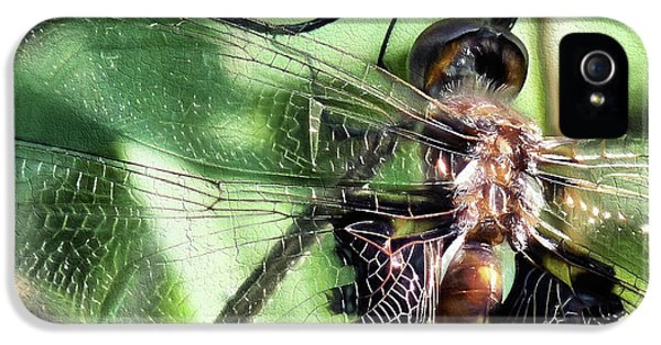 IPhone 5 Case featuring the digital art Stained Glass Dragonfly by JC Findley