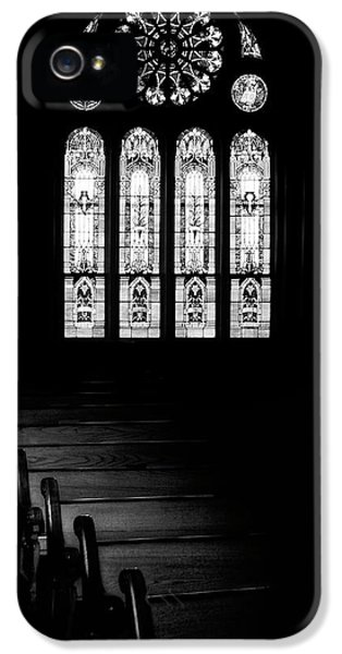 Stained Glass In Black And White IPhone 5 Case