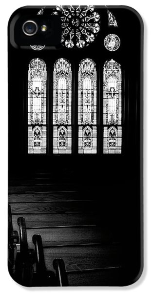 Stained Glass In Black And White IPhone 5 Case by Tom Mc Nemar