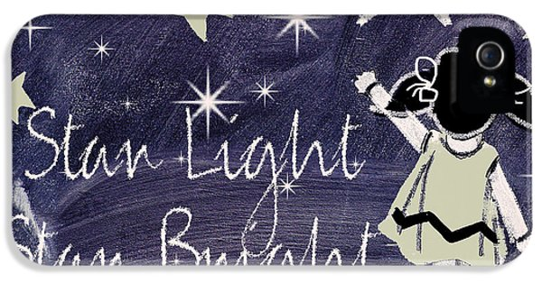 Star Light Star Bright Chalk Board Nursery Rhyme IPhone 5 / 5s Case by Mindy Sommers