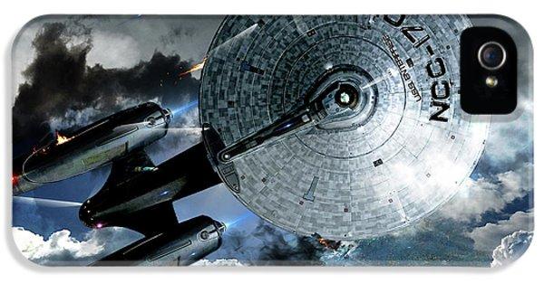 Star Trek Into Darkness, Original Mixed Media IPhone 5 Case by Thomas Pollart