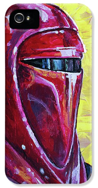 IPhone 5 Case featuring the painting Star Wars Helmet Series - Imperial Guard by Aaron Spong