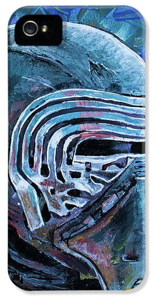 IPhone 5 Case featuring the painting Star Wars Helmet Series - Kylo Ren by Aaron Spong