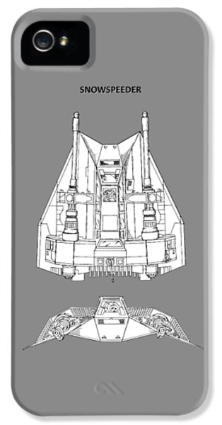 Star Wars - Snowspeeder Patent IPhone 5 Case