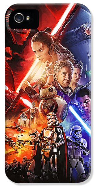 Star Wars The Force Awakens Artwork IPhone 5 Case by Sheraz A
