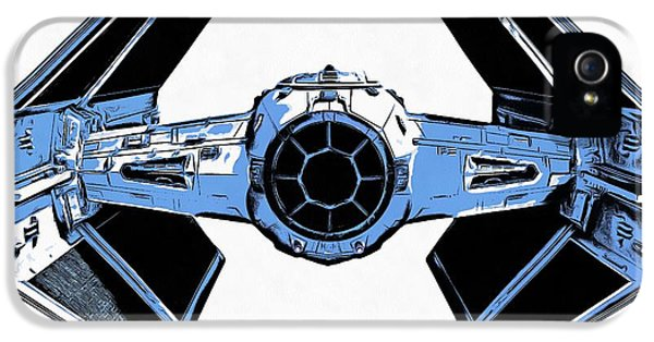 Star Wars Tie Fighter Advanced X1 IPhone 5 Case by Edward Fielding