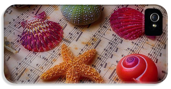 Starfish On Sheet Music IPhone 5 Case by Garry Gay