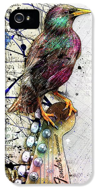 Starling On A Strat IPhone 5 Case by Gary Bodnar