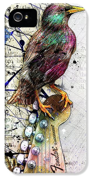 Starlings iPhone 5 Case - Starling On A Strat by Gary Bodnar