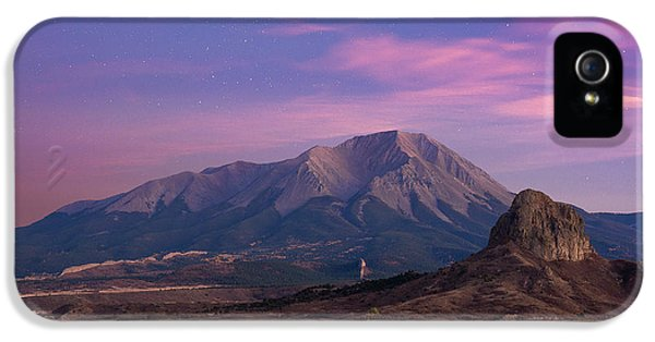 IPhone 5 Case featuring the photograph Starry Sunset Over West Spanish Peak by Aaron Spong