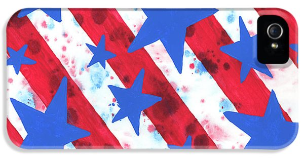 Stars And Strips  IPhone 5 Case by Darice Machel McGuire