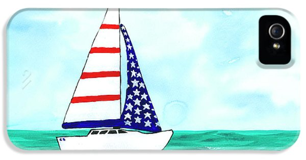 Stars And Strips Sailboat IPhone 5 Case by Darice Machel McGuire