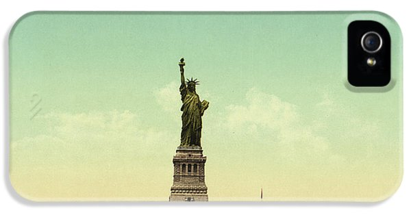 Statue Of Liberty, New York Harbor IPhone 5 Case by Unknown