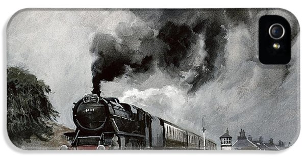 Steam Train At Garsdale - Cumbria IPhone 5 Case by John Cooke