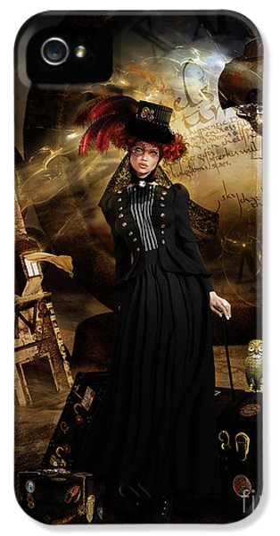 Steampunk Time Traveler IPhone 5 Case